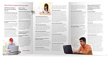 Online Program Tri-fold Brochure - Inner