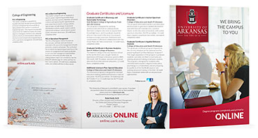 Online Program Tri-fold Brochure - Outer