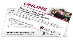 Dyslexia Therapist Endorsement Program